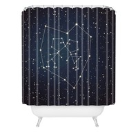 Belle13 Love Written in the Stars Shower Curtain