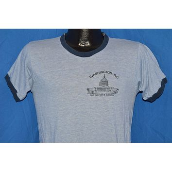70s Washington D.C. Rayon Tri Blend t-shirt Small