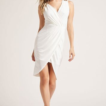 Draped Tulip-Hem Dress