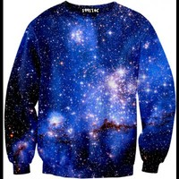 ☮♡ Blue Galaxy Sweater ✞☆