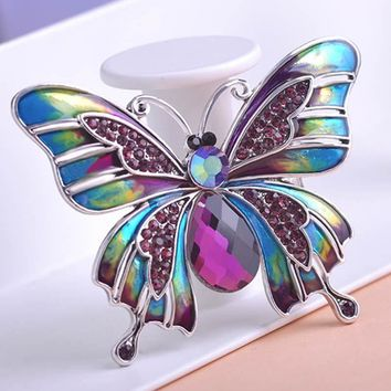 Brooches Vintage Large Enamel Butterfly Corsage Lot
