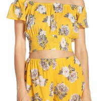 MINKPINK 'Spread Like Wildflowers' Cover-Up Crop Top | Nordstrom