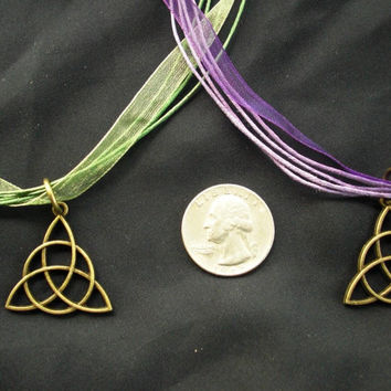 CELTIC CHARMED Power of 3 Necklace charged w/ GODDESS Spell, Irish, St Patrick,Triquetra, Celtic Trinity Knot, celtic, Wicca, White Magic