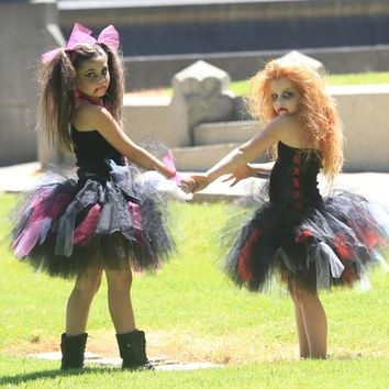 Moeble Scary Monster Girls Halloween Party Dress Children Fancy Clothing Zombie Tutu Dress Kids Cosplay Costume