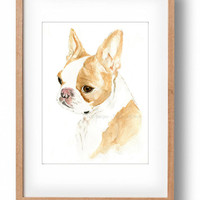Custom dog portrait, your dog portrait, watercolor custom dog portrait, original dog portrait, dog lovers
