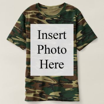 Design Your Own Personalized Men Camouflage TShirt