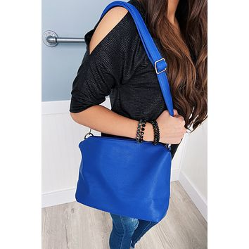 Bring On The Day Zipper Purse- Royal Blue
