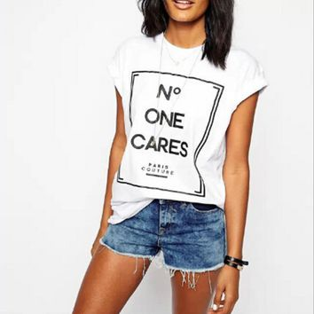 N.ONE CARES Black&White T-shirt