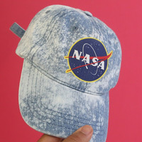 space cadet denim baseball cap
