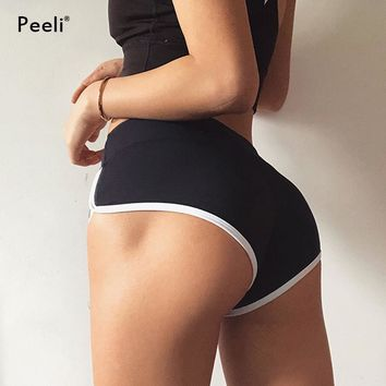 Peeli Women Push Up Sports Short Fitness Athletic High Waist Yoga Shorts Activewear Quick Dry Gym Short Workout Running Leggings