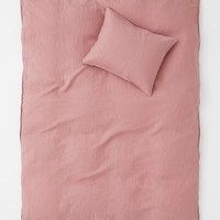 Washed Linen Duvet Cover Set - Pink - Home All | H&M US