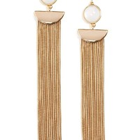 Faux Stone Duster Earrings