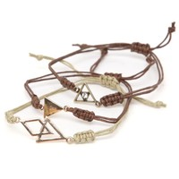 With Love From CA Triangle Bracelet Pack - Womens Jewelry - Multi - One