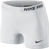 Nike Women's Pro 2.5 Short 2013 (White)