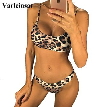 Sexy Leopard 2019 Bikini Women Swimwear Female Swimsuit Two-pieces Bikini set Brazilian Bather Bathing Suit Swim Wear V871