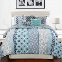 Railroad 5-pc. Reversible Comforter Set - Queen