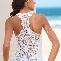 Crochet Race Back Tank