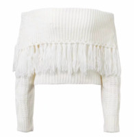FREE SHIPPING Fall one word shoulder big lapel long sleeve sweater knitted sweater