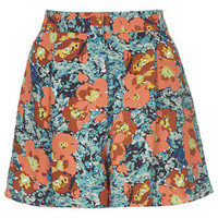 Skirted Floral Print Shorts - Multi