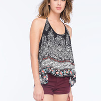 Patrons Of Peace Womens Halter Top Black Combo  In Sizes