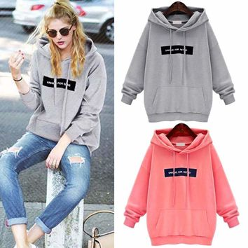 Women's Long Sleeve Hoodie Sweatshirt Jumper Hoody Sweater Pullover Tops Coat US