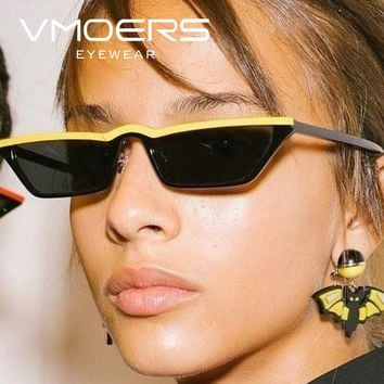 VMOERS Retro Small Cat Eye Sunglasses Women Black Plastic Oculos Shades Female Vintage Cateye Sun Glasses For Women Luxury 2018