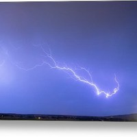 Lightning Bolts Coming In For A Landing Panorama Metal Print
