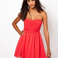 ASOS Soft Bandeau Skater Dress