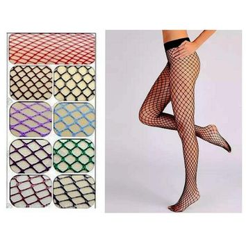 Sexy Mesh Fishnet Pantyhose Women'S New Pantyhose In A Grid Black Tights Slim Fishnet Stockings Night-Club Hosiery Visnet Panty