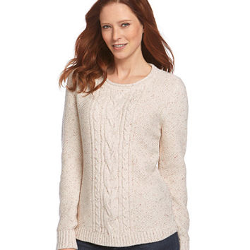 Textured Donegal Sweaters, Pullover: Crewnecks | Free Shipping at L.L.Bean