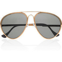 Finest Seven | Zero 01 rose gold-plated aviator sunglasses | NET-A-PORTER.COM
