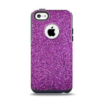 The Purple Glitter Ultra Metallic Apple iPhone 5c Otterbox Commuter Case Skin Set