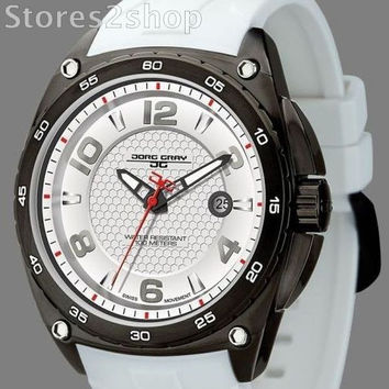 Jorg Gray JG8400-12 Stainless Steel mens sports watch Swiss movement