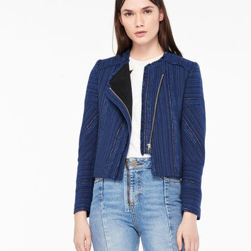 Short Jacket - Asymmetric Fastening