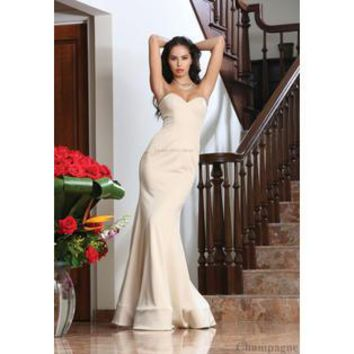 STRAPLESS EVENING GOWN/LONG STRETCHY FITTED DRESS/BEAUTY PAGEANT SPECIAL OCCASION & PLUS SIZE