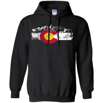 Colorado Flag Moutain Vintage T Shirt - Colorado Day Shirts t-shirt G185 Gildan Pullover Hoodie 8 oz.