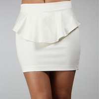 Off White Peplum Skirt :: www.windsorstore.com