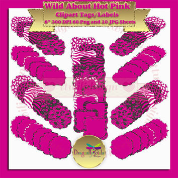 80% OFF Sale WILD About Hot Pink clipart vector graphic instant download, commercial use, printable