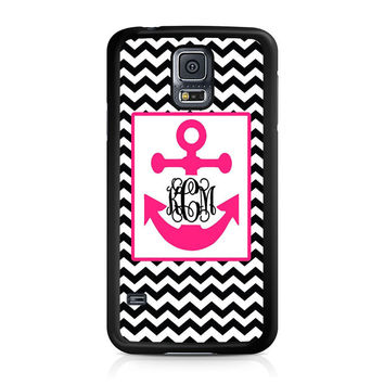 Monogram Anchor Wallpaper Samsung Galaxy S5 Case