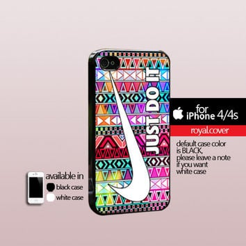 Aztex Nike Just Do it colorfull  - Print On Hard Cover - iPhone 4/4S Case and iPhone 5 Case - Samsung Galaxy S3 i9300 / S4 i9500