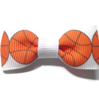 "2"" Basketball Tuxedo Hair Bow"