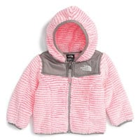 'Oso' Fleece Hooded Jacket (Baby Girls) (Regular Retail Price: $65.00)