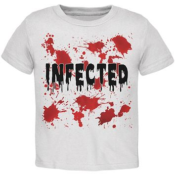 Halloween Infected Blood Splatter Toddler T Shirt