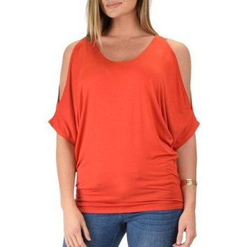 Tunic Top : Cold shoulder Tunic Top
