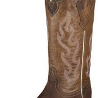Ariat Women's Crossfire Caliente Cowgirl Boot Wide Square Toe Brown 10 M US
