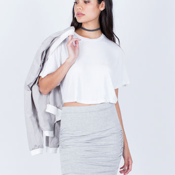 Ruched Knit Skirt
