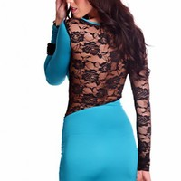 Jade Black Long Sleeves Strap Over Back Floral Lace Stylish Dress @ Amiclubwear sexy dresses,sexy dress,prom dress,summer dress,spring dress,prom gowns,teens dresses,sexy party wear,women's cocktail dresses,ball dresses,sun dresses,trendy dresses,sweater