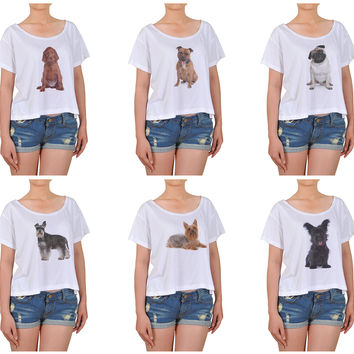 Girl Dogs-1 Printed Cotton Croptop WTS_08