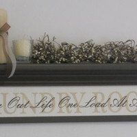 "Laundry Room Wall Decor Art Shelf 30"" Brown with Verse - LAUNDRY ROOM - Sorting Out Life One Load At A Time"