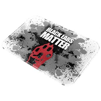 Black Labs Matter Funny Splatter All Over Glass Cutting Board